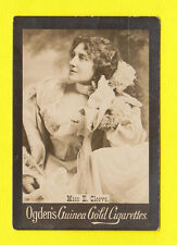 OGDENS GUINEA GOLD - SCARCE LARGE PHOTO CARD - ACTRESS - MISS  E.  CLEEVE - 1900
