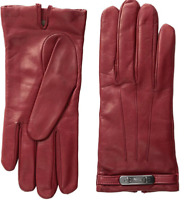 COACH Women's Red Swagger Black Cherry Gloves  Size 7.5 75017