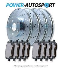 BRAKENETIC PREMIUM GT SLOT Brake Rotors+POSI QUIET Ceramic Pads BPK90438 FRONT