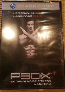 P90X Extreme Home Fitness Beachbody, Interval X Pluse, Abs/Core Plus Tony Horton