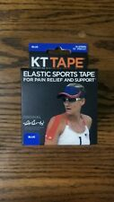 """Blue KT Tape Cotton 10"""" Precut Kinesiology Therapeutic Elastic Sports 14 Strips"""