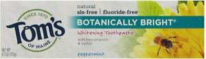 Botanically Bright Whitening Toothpaste by Tom's of Maine, 4.7 oz Peppermint