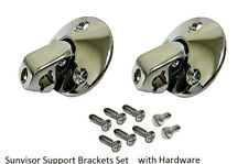 Sunvisor Support Swivel Bracket set w/screws sun visor Camaro Chevelle Impala