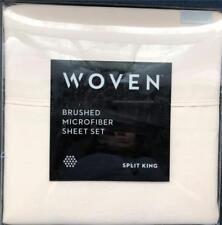 Woven by Malouf Split King 5 pc. sheet set Ivory Brand New~