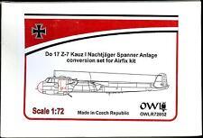 Owl Decals 1/72 DORNIER Do-17Z-7 Kauz I NACHTJAGER SPANNER ANLAGE Resin Conv Kit