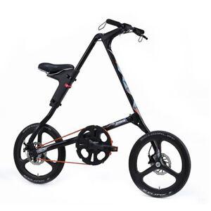STRIDA SX Pollici 18 Sondermodell Limitata Bicicletta Ripiegabile Citybike Nero
