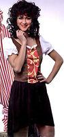 Piratin Kostüm Seeräuberin Gr. M braun/rot/gelb/schwarz Fasching Karneval 2-tlg