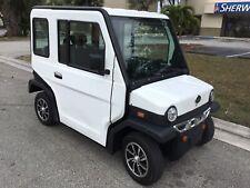 2018 white Revolution LSV Street Legal 4 Passenger Seat utility Golf Cart mint