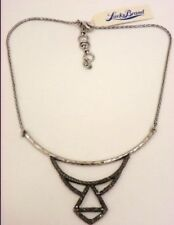 LUCKY BRAND Silver-Tone Pave Crystals Collar Necklace JLRY0993, NWT $45