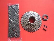 Fahrrad Verschleißset  Kassette HG51  8 Fach  Shimano HG 40 Kette Komplettset