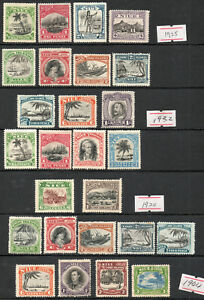 Niue 1920-1944 KGV - KGVI  4 x set of mint stamps  Mint HInged