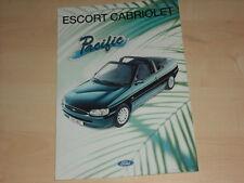 50230) Ford Escort Cabrio Pacific Prospekt 10/1995