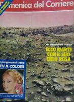 DOMENICA DEL CORRIERE N.33 1976 prime foto da Marte Maria Giovanna Elmi