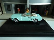 Oxford  1965  Ford Mustang Convertible  Turquoise    1/87   HO  diecast car
