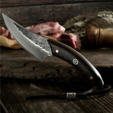 Kitchen Forged High Carbon Steel Chef Butcher BBQ Camping Hunting Knife Outdoor
