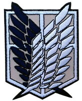 Attack on Titan Wings of Freedom iron-on patch superhero embroidered logo tw