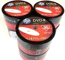 HP DVD-R 16X 4.7GB 120MIn Inkjet Hub Printable 6x50=300pcs  Pack In Plastic Wrap