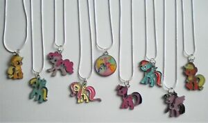 GIRL'S/YOUNG LADIES MY LITTLE PONY 925 STERLING SILVER ENAMEL PENDANT NECKLACE