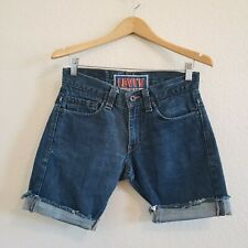 Levi's High Waisted Jean Cutoff Shorts Skinny 511 Size W30 (Measures 15 Flat)