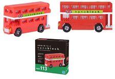 London Bus 300 piezas 3-d Nanoblock mini bloques de creación Kawada 02463