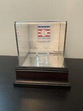 Cooperstown Baseball Hall Of Fame Mahogany Baseball Logo Display Case Fanatics