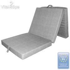 VitaliSpa®matelas pliable pliant lit d'invité couchette lit de voyage Gris