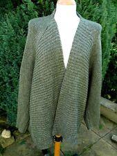 HAUBER olive green chunky  cardigan / jacket 14