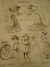 Pèle Mèle Parisian Dernier cri Chevaux Cabotins  Cheins Agents Print Art 1907
