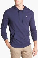 New Lacoste Brand Men's TH1485 Navy Pullover Jersey Hoodie  Sweater T Shirt