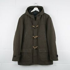 Vintage NAUTICA Wool Heavy Duffle Hooded Coat Size Mens XL XLarge /R37016