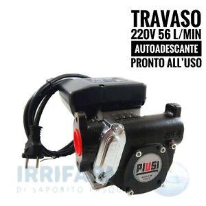 Pompa travaso gasolio 220v Elettrica Autoadescante Piusi Panther 56 l/min AC