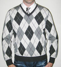 Ralph Lauren Polo Golf Argyle Merino Wool Sweater - Size Medium