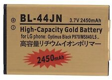 Battery BL-44JN for LG Optimus Black P970 L5 E510 E610 L3 E400 E730 Gold