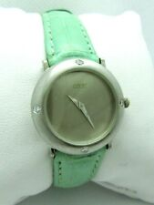 Cede Platinum Quartz Watch w Diamond Bezel - 25mm
