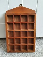 Vintage Wooden Thimble Display Case With 16 Spaces (4 x 4) Wall Mountable