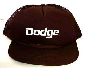 Vintage Dodge Vehicle Brand Trucker Snapback Hat Mesh Back Cap Maroon EUC