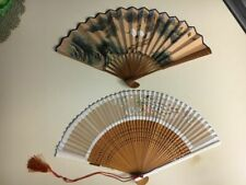 2 Vintage Chinese Japanese Oriental Fans