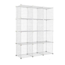 12 Cube DIY Wire Storage Cabinet Display Shelf Bookcase Organiser Plant Stand WH