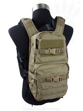 TMC MOLLE Back Pack for RRV Khaki TMC1483 Military Zaino Airsoft Softair