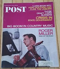 SATURDAY EVENING POST FEBRUARY 12 1966 ROGER MILLER COUNTRY MUSIC DRAFT CRISIS
