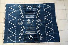 Altes Wickeltuch für Frauen Baumwolle CF83 Indigo Samo Old Cloth Tissu Afrozip