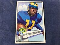 Y3-28 FOOTBALL CARD - PAUL TANK YOUNGER LOS ANGELES RAMS - 1952 BOWMAN -CARD #25