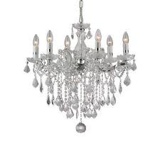 florian sp6 cromo lampadario sospensione cromato con gocce e pendenti in cristal