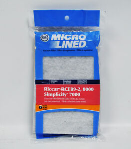 DVC Micro Lined Riccar RCF89-2 Simplicity 7000 Charcoal Filter 3 Pack