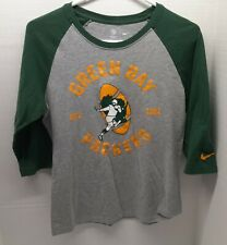 Nike Green Bay Packers Baseball & vintage Logo T-shirt - Youth Size Med **EUC**