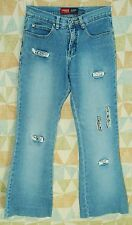 Embellished Real RHINESTONE Cutouts FLARE Low YOUNIQUE Stretch Jeans! 1 short