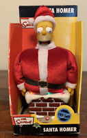 Talking HOMER SIMPSON Simpsons 2004 Santa Stuck In Chimney - WORKS Gemmy