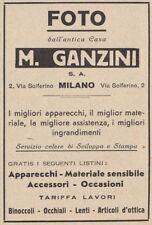 Z3891 Foto dall'antica casa M. GANZINI - Pubblicità d'epoca - 1932 advertising