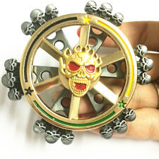 2 in 1 cool skull Fidget Spinner with Rudder EDC Game Metal Gyro Toy