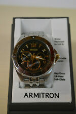 Men's 204664BLSV Stainless Steel Chronograph Sport Watch by Armitron